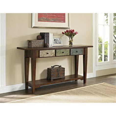 altra hand painted sage console table  drawers furniture lounge accent den ebay