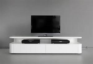 Table Tv Design : luxury furniture design idea minimalist white tv table ~ Teatrodelosmanantiales.com Idées de Décoration