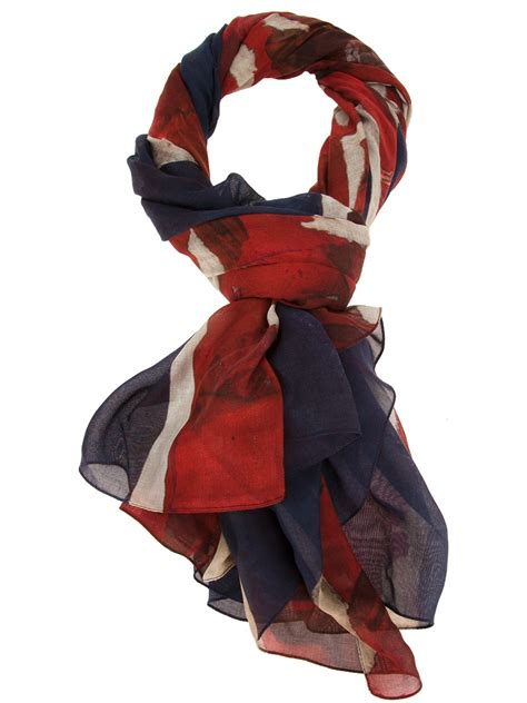 Lyst - Alexander mcqueen Union Jack Scarf in Red for Men