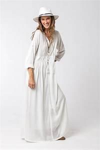 Robe Blanche Longue Boheme : robe blanche robe boh me robe l che robe longue blanche par hanamer ~ Preciouscoupons.com Idées de Décoration