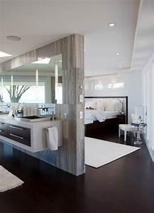 Separation Salon Chambre : 10 id es pour s parer la chambre coucher des autres pi ces ~ Zukunftsfamilie.com Idées de Décoration