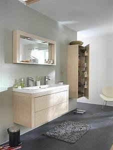 Meuble Salle De Bain Bois Gris : la colonne de salle de bain nos propositions en 58 photos ~ Edinachiropracticcenter.com Idées de Décoration