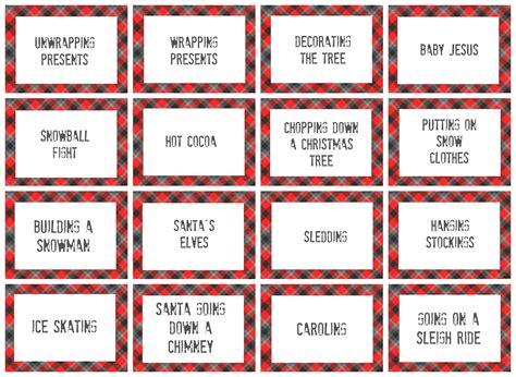 christmas charades game and free printable roundup a