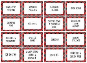 Christmas Pictionary Word List - Christmas Decore