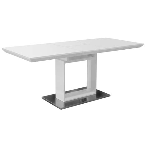 high glass dining table white high gloss extending dining table