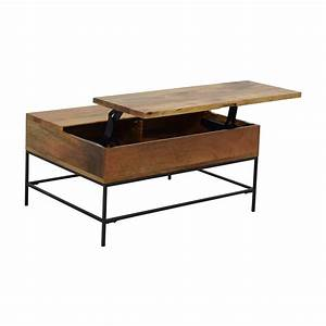 63 off west elm west elm industrial storage coffee With industrial storage coffee table west elm