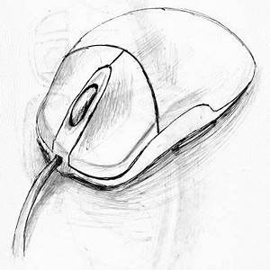 Computer Mouse Sketch Amazing! | Sketches easy, Easy ...
