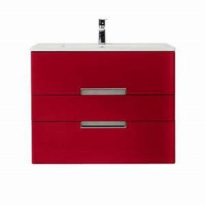 meuble de salle de bains rouge imperial 100 cm belt With meuble salle de bain ceylan