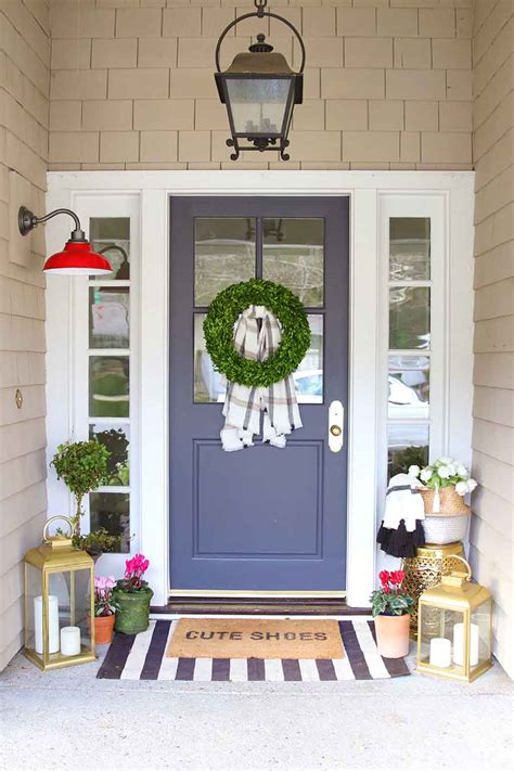 Decorating Front Porches by Doormat Layering Guide Modern Glam Interiors