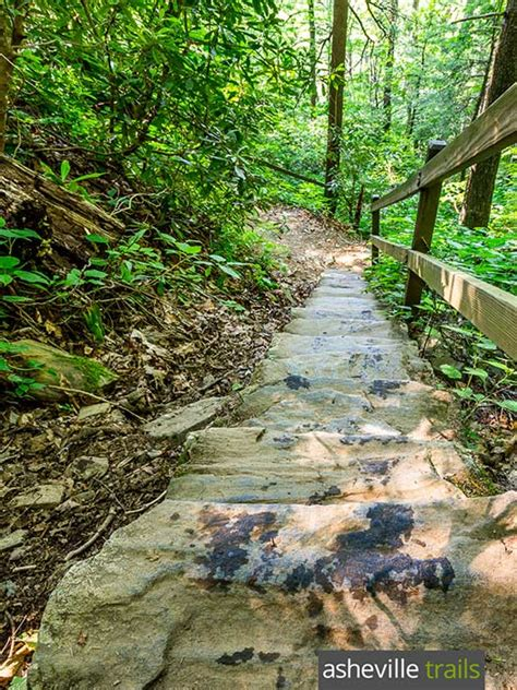 crabtree falls trail on the blue ridge parkway in nc
