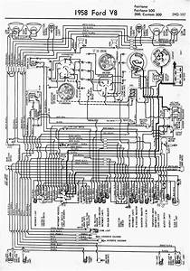 Wiring Diagram For 1958 Ford V8 Fairlane  Fairlane 500