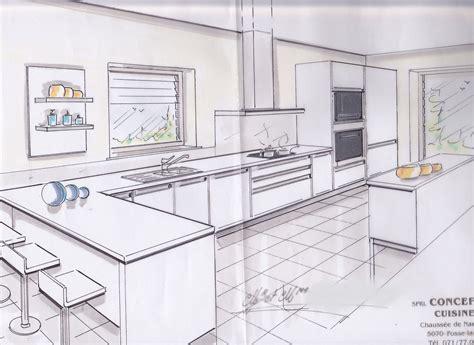 croquis cuisine installer une cuisine tout savoir pour la concevoir la choisir et l 39 acheter