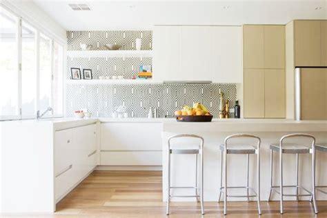 wallpaper backsplash kitchen cococozy design idea back it up in the kitchen