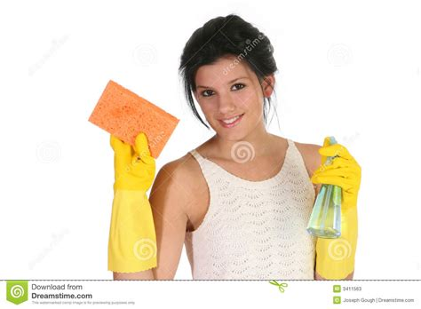 female cleaner cleaning stock  image