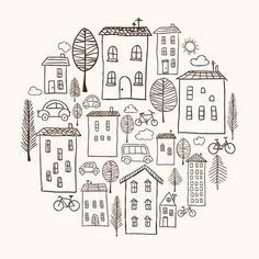 stock   images house doodle house drawing art