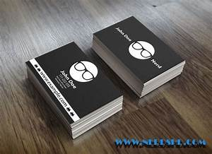 Geek nerd free business card psd download for Nerdy business cards
