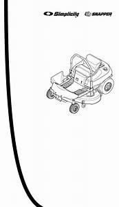 Snapper Lawn Mower 150z Series User Guide
