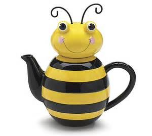 decorative kitchen canisters sets teapot honey bee