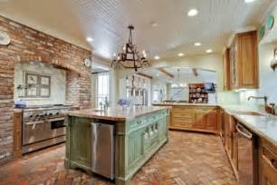 Kitchens Brick Floors