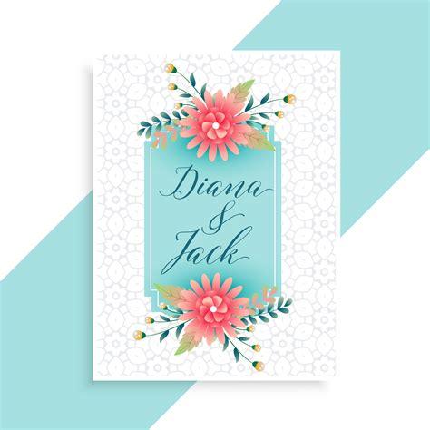 elegant wedding invitation card template Download Free