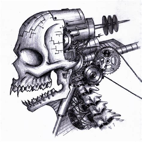 Biomech Skull By Zeroexe003 On Deviantart