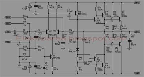 rangkaian 500watt power lifier koleksi skema rangkaian artikel elektronika
