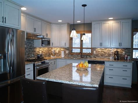 custom white cabinet kitchen remodel aspen remodelers