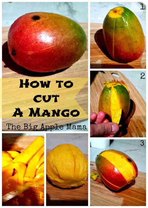 how to cut a how to cut a mango in 3 easy steps the big apple mama