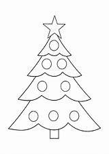 Tree Coloring Christmas Pages Printable Chrismas Holiday Molde sketch template