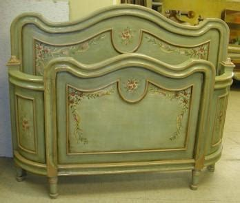 antique green french bed queen  furniture  olinda