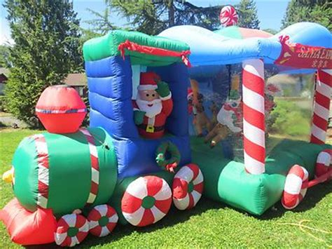 Gemmy Inflatable Halloween Train by Huge Rare Gemmy Airblown Inflatable Christmas Santa