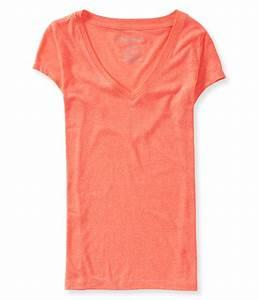 Aeropostale Womens V-Neck Basic T-Shirt