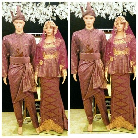 baju pengantin songket fesyen wanita pakaian pengantin