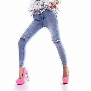 Jeans Mit Schmuckperlen : trendstylez jeans mit modernen vintage effekten ~ Frokenaadalensverden.com Haus und Dekorationen