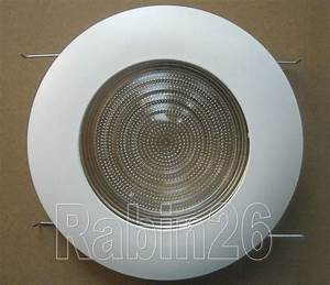 5 U0026quot  Inch Recessed Can Light Metal Shower Trim Clear Lens