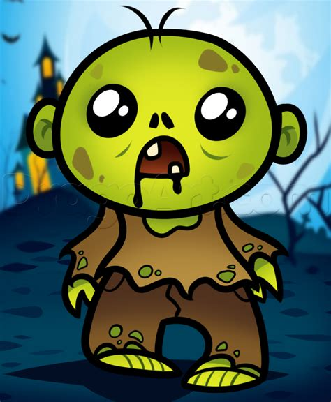 draw  cute zombie step  step zombies monsters