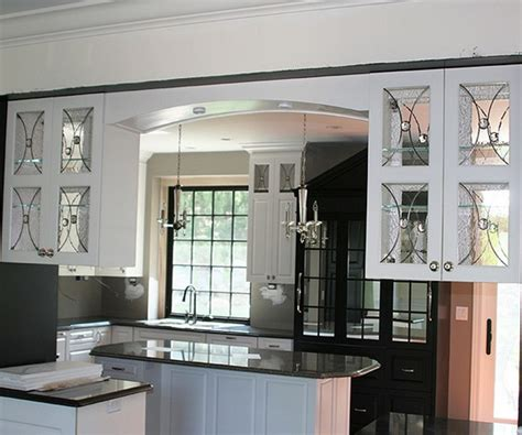 kitchen cabinets with glass inserts homeofficedecoration black kitchen cabinets with glass 8174