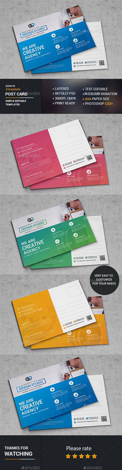 postcard template graphicriver web postcard template psd here http