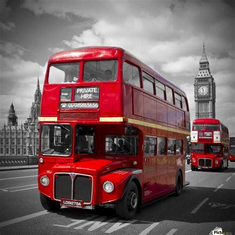 London Red Buses On Westminster Bridge  Melanie Viola Canvas