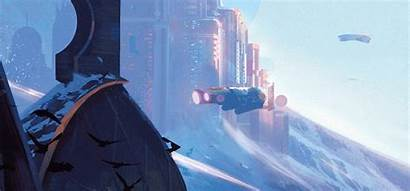 Future Science Fiction American Ada Battle Painting