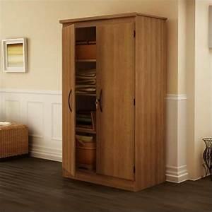 Park 2 Door Storage Cabinet in Morgan Cherry Finish - 7276970