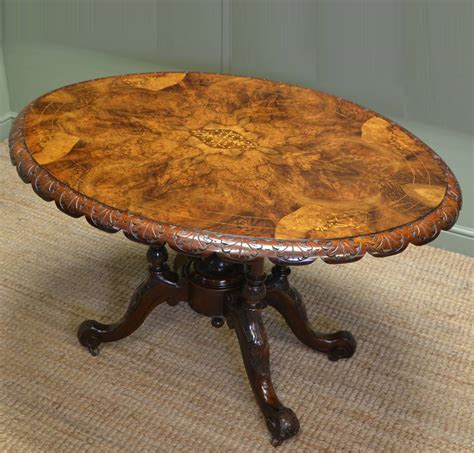 antique oval dining tables for figured walnut oval antique dining table 9031