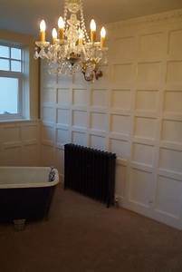 full height panelling against cast iron radiator and With how to fix bathroom wall panels