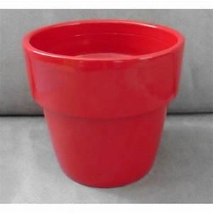 Pot De Fleur En Terre Cuite : cache pot terre cuite peinte rouge sombre brillant pot de ~ Dailycaller-alerts.com Idées de Décoration