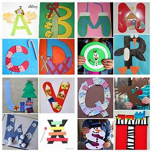 winter christmas alphabet crafts for kids crafty morning With letter art ideas