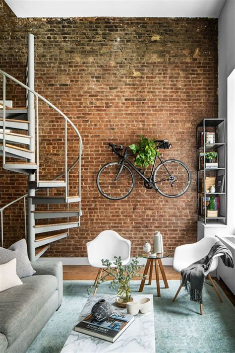charming exposed brick interiors    warm