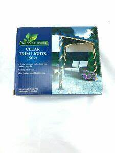 50 Count Window Icicle Lights Wilson Fisher Clear Trim Lights 150 Count 9 Foot Length