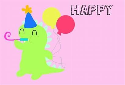 Birthday Happy Dinosaur Gifs Animated Card Cards