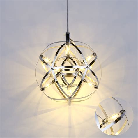 12w mordern simple led globe l pendant light chandelier