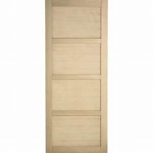 Porte coulissante chene plaque marron paris artens 204 x for Porte de garage coulissante jumelé avec tordjman paris